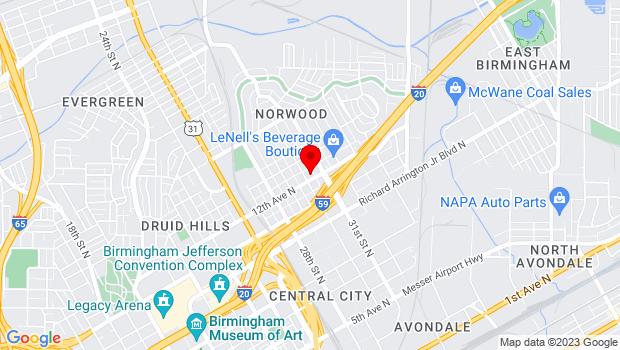 Google Map of 3002 12th Ave N, , Birmingham, AL 35234