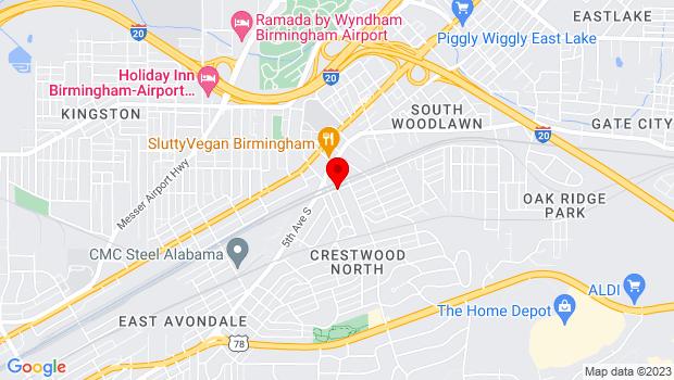 Google Map of 55th Place South, Birmingham, AL 35212