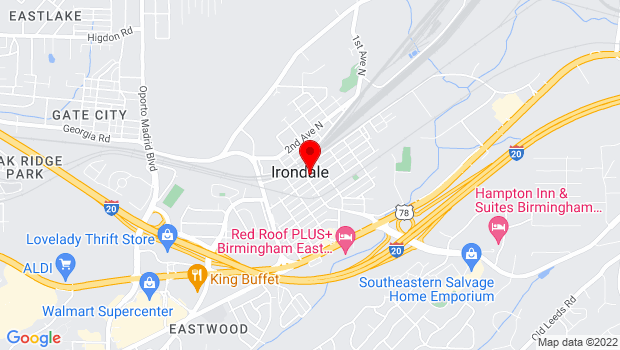 Google Map of 105 20th Street South, Irondale, AL 35210