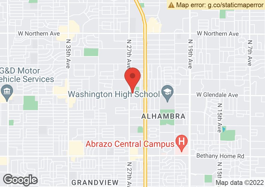 Google Map of 2650 W GLENDALE AVE