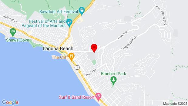 Google Map of 625 Park Ave., Laguna Beach, CA 92651
