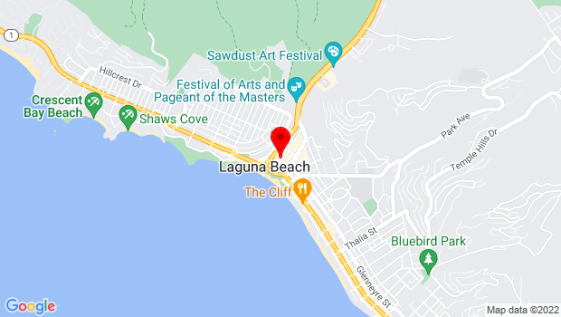 Google Map of 260 Ocean Ave., Laguna Beach, CA 92651