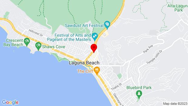 Google Map of 374 Ocean Ave, Laguna Beach, CA 92651