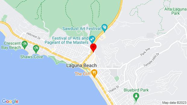 Google Map of 480 Ocean Ave., Ste. B, Laguna Beach, CA 92651