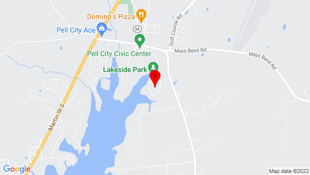 Google Map of 2801 Stemley Bridge Rd, Pell City, AL 35128