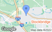 Map of Stockbridge, GA
