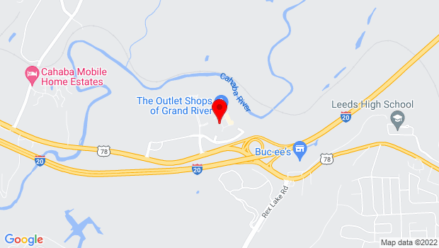 Google Map of 6200 Grand River Blvd East, Leeds, AL 35094