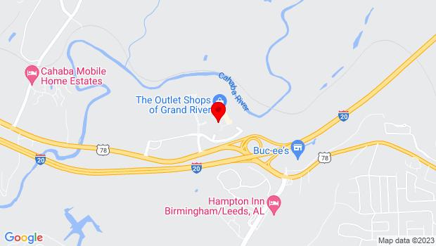 Google Map of 6200 Grand River Blvd East, Leeds, AL 35094