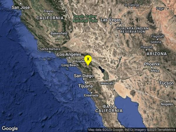 earthquake 12km N of Aguanga, CA