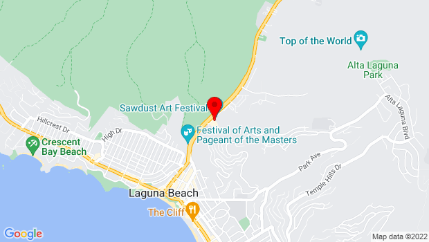 Google Map of 891 Laguna Canyon Road, Laguna Beach, CA 92651