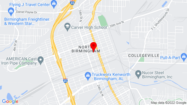 Google Map of 2501 31st Ave. N , Birmingham, Alabama 35207