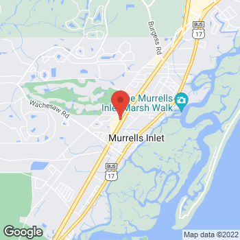Map of Arby's at 4406 Highway 17, Murrells Inlet, SC 29576