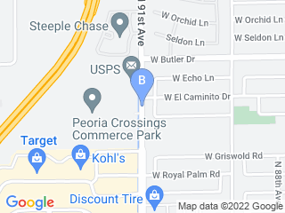 Map of Camp Bow Wow Dog Boarding Peoria Dog Boarding options in Peoria | Boarding