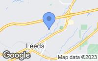 Map of Leeds, AL
