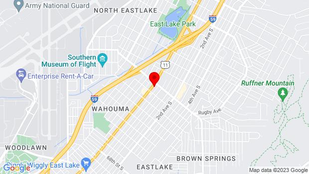 Google Map of 7623 1st Ave. N, Birmingham, AL 35206