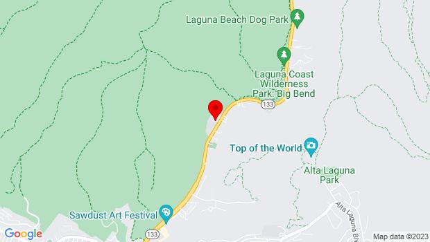 Google Map of 2222 Laguna Canyon Road, Laguna Beach, CA 92651
