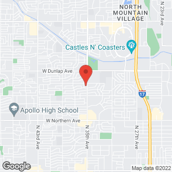 Map of Yan-Chiou Lai, PA at 8618 N 35th Avenue, Phoenix, AZ 85051