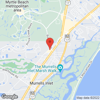 Map of Tuesday Morning at 736 Mink Avenue, Murrells Inlet, SC 29576