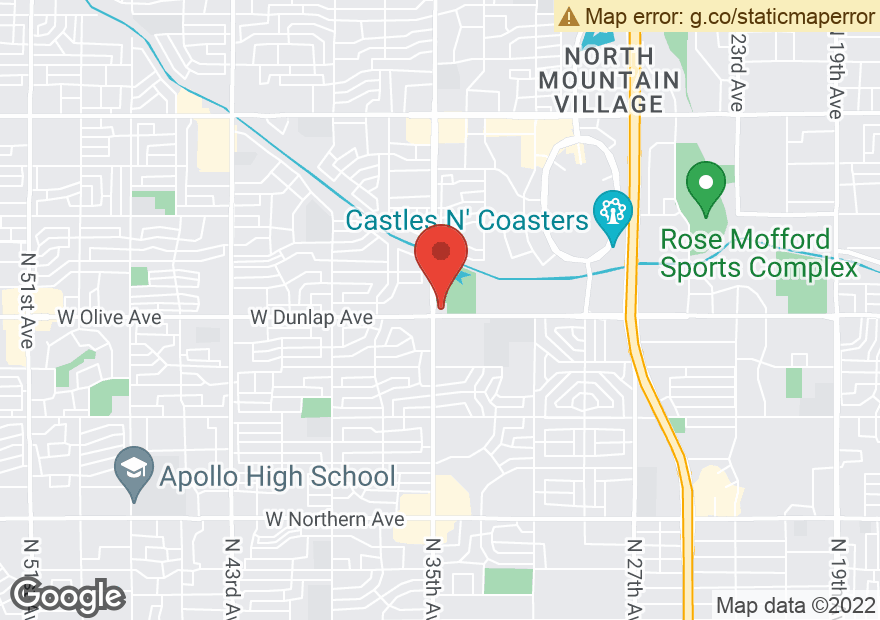 Google Map of 3450 W DUNLAP AVE
