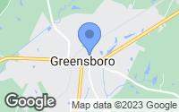 Map of Greensboro, GA