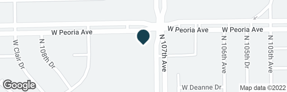 Google Map of10707 W PEORIA AVE