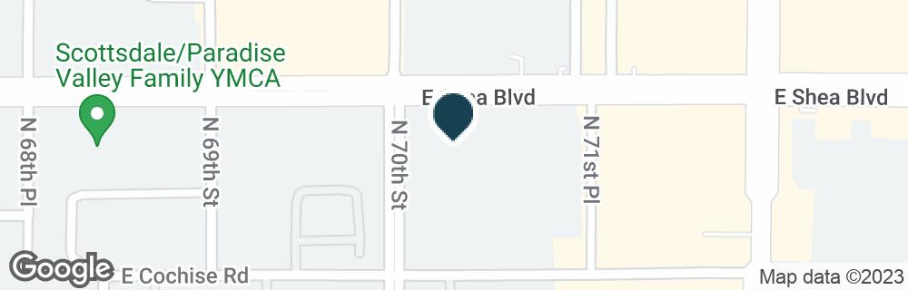 Google Map of7011 E SHEA BLVD
