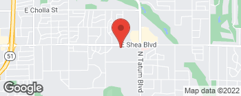 Map of 4545 E Shea Blvd in Phoenix
