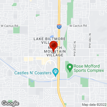 Map of Staples® Print & Marketing Services at 2760 West Peoria Ave, Phoenix, AZ 85029
