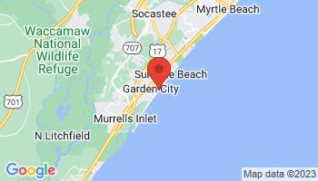 Map of Garden City Beach
