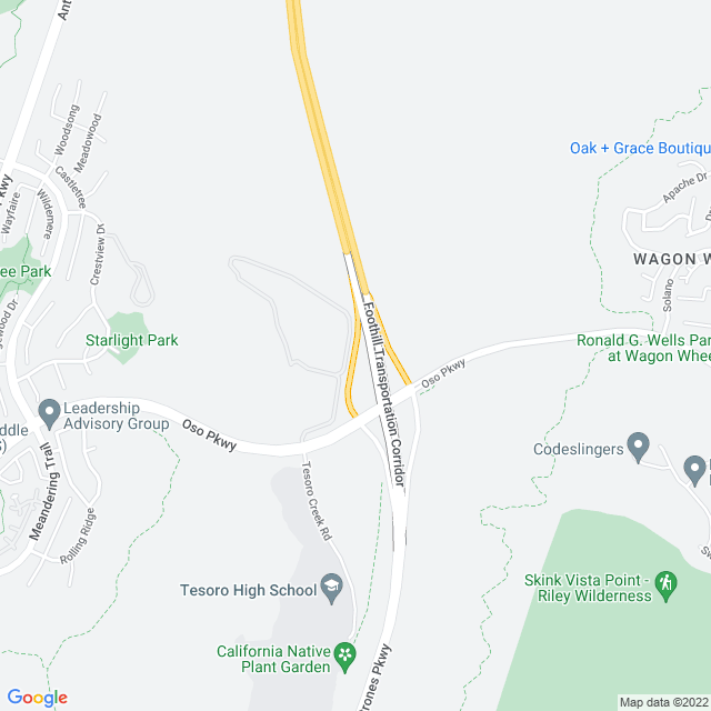 Map of Oso Parkway Off