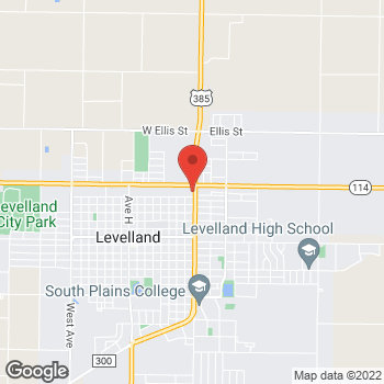 Map of EZPAWN at 100 College Ave., Levelland, TX 79336