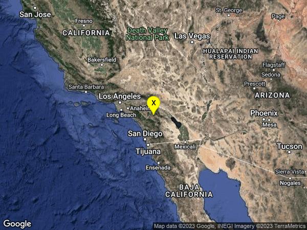 earthquake 13km WNW of Anza, CA
