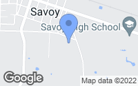 Map of Savoy, TX