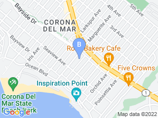 Map of Canine Care Castle Dog Boarding options in Corona Del Mar | Boarding
