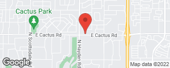 Map of 8140 E Cactus Rd in Scottsdale