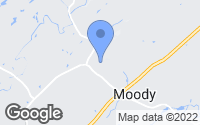 Map of Moody, AL