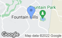 Map of Fountain Hills, AZ
