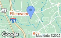 Map of Ellenwood, GA
