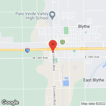 Map of Taco Bell at 375 S Lovekin Blvd, Blythe, CA 92225