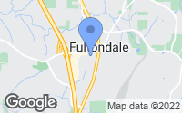 Map of Fultondale, AL