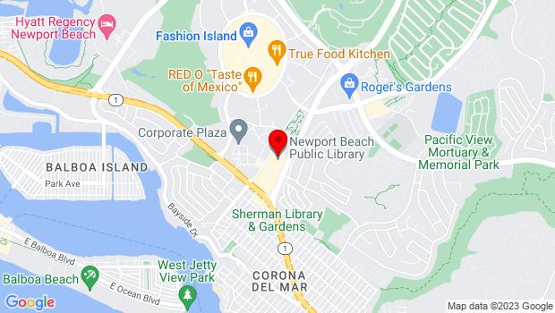 Google Map of 1000 Avocado Avenue, Newport Beach, CA 92660