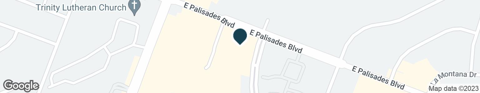 Google Map of16415 E PALISADES BLVD