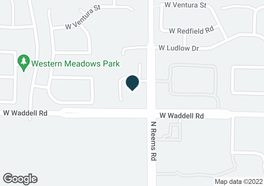 Google Map of15514 W WADDELL RD
