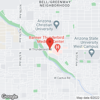 Map of Burger King at 5841 West Th-bird Rd, Glendale, AZ 85306
