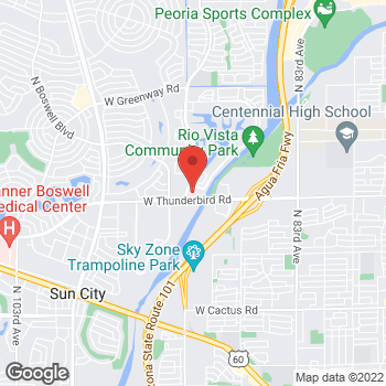 Map of Anup Rai, MD at 13943 North 91st Avenue, Peoria, AZ 84381