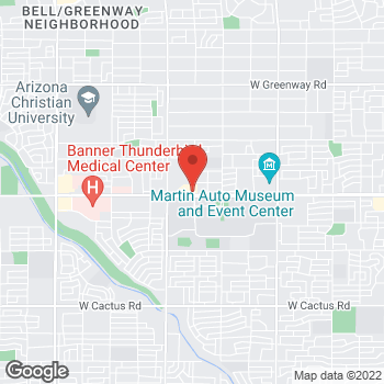 Map of Arby's at 4906 W Thunderbird Rd, Glendale, AZ 85306
