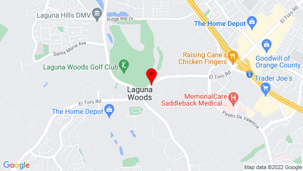Google Map of 24310 El Toro Rd., Laguna Hills, CA 92637