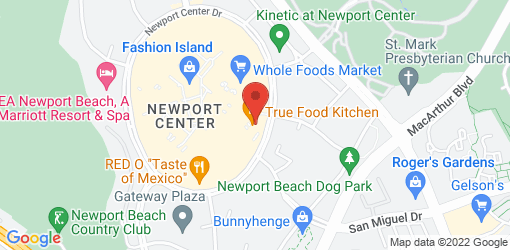 Directions to True Food Kitchen - Newport Beach @Fashion Island