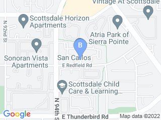 Map of Pampered Paws Dog Boarding options in Scottsdale | Boarding