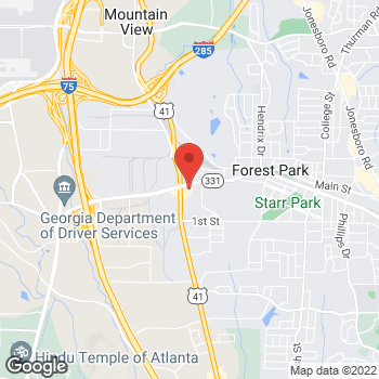 Map of Burger King at 247 Forest Parkway, Forest Park, GA 30297